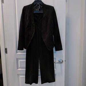 Modern Black Blazer Pantsuit